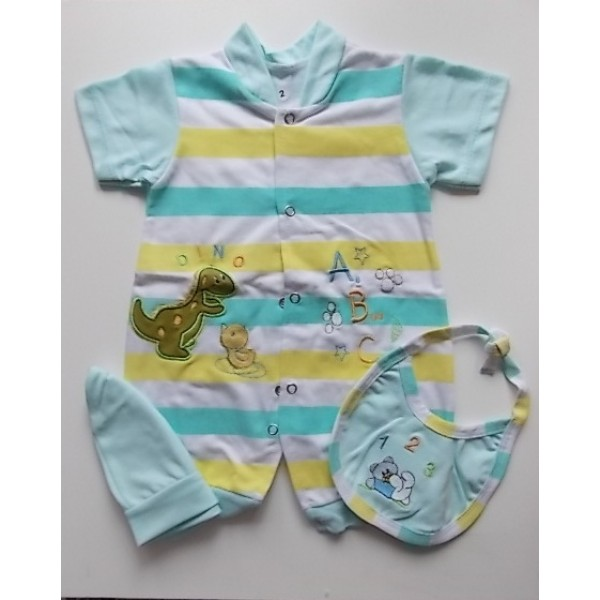 Combinaison pour bébé en coton 3 pièces