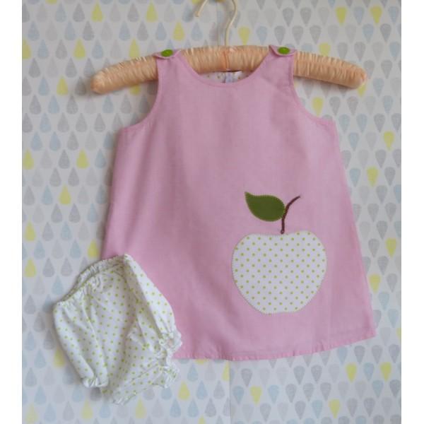 """Robe pour bébé """"pomme verte"""""""