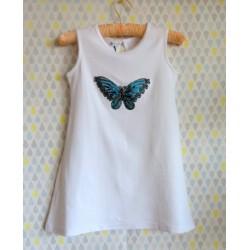"Robe débardeur pour fille ""Papillon bleu"""