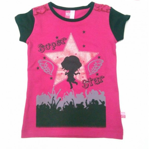 "T-shirt manches courtes ""Super Star"" -50%"