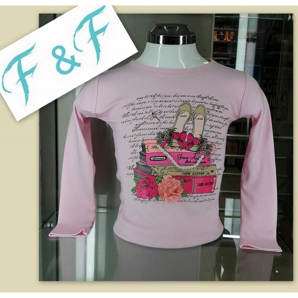 """T-shirt manches longues fille """"perles"""""""